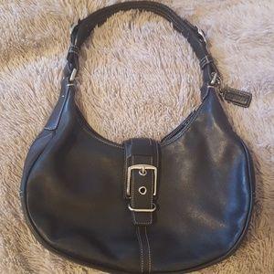 Beautiful black leather COACH purse!